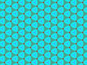 Cubic blurred pattern