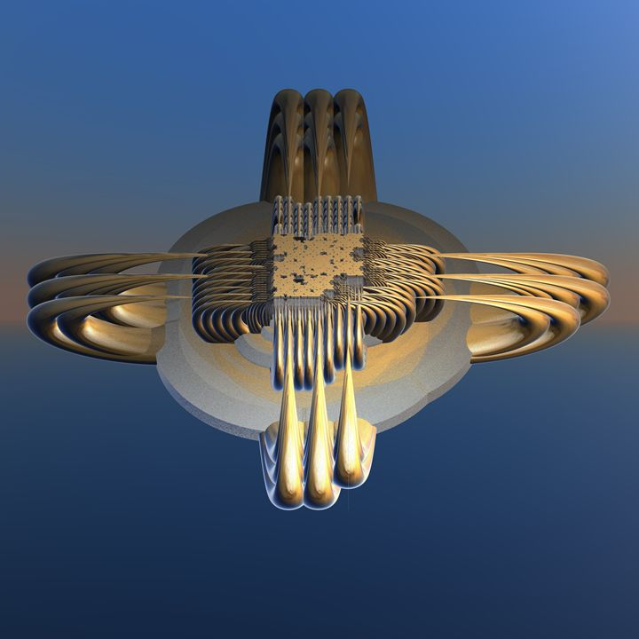 Fr.1021 Space ship - Fractal art