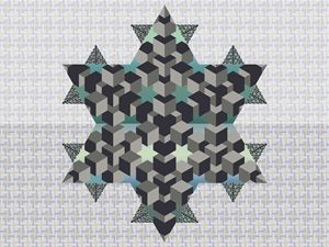 Star with 3 patterns.