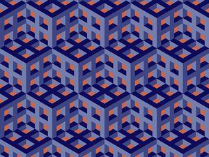 Geometric cubes - Fractal art