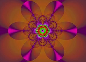 Transparency in magenta and brown 2 - Fractal art