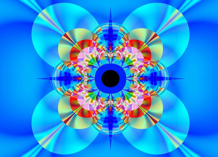 Brigth in blue. - Fractal art