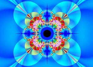 Brigth in blue. - Fractal art