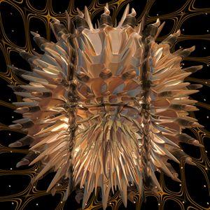 Fr.1028 jelly fish in net - Fractal art