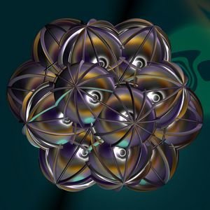 Fr.1050 composition of spheres - Fractal art