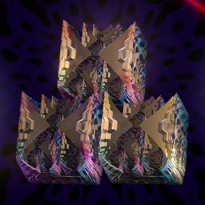 Fr.2000-2019 Distorted cube - Fractal art