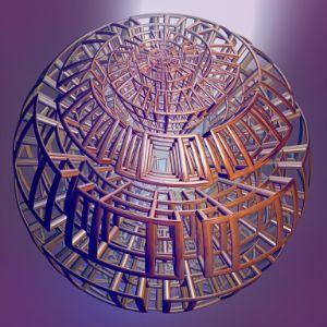 Fr.8031 metal structure - Fractal art