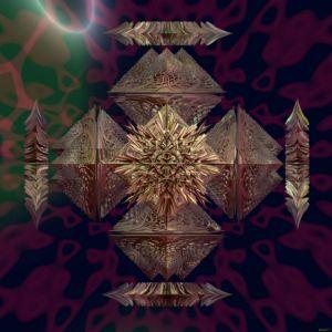 Fr.100006 2 baseshape composition - Fractal art