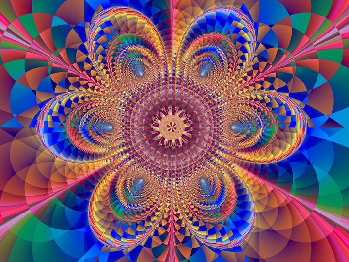 Mosaic flower. - Fractal art
