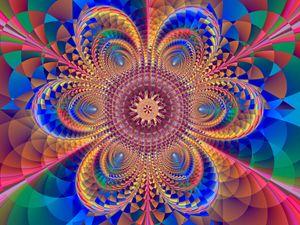 Mosaic flower.