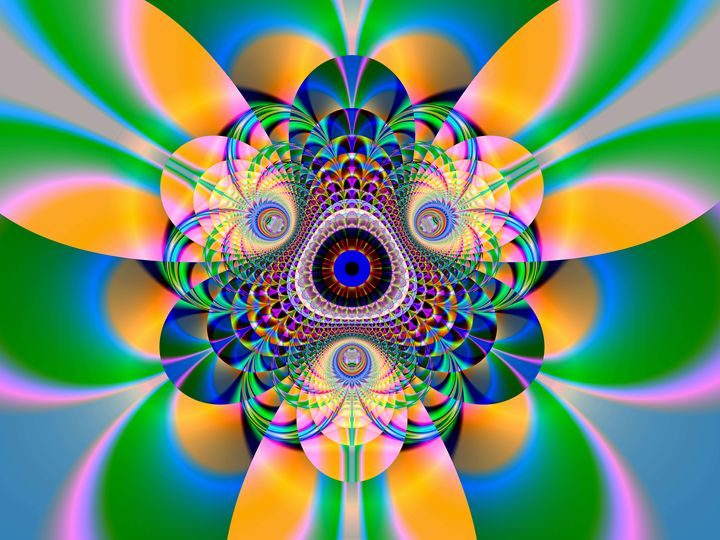 Clowns head - Fractal art