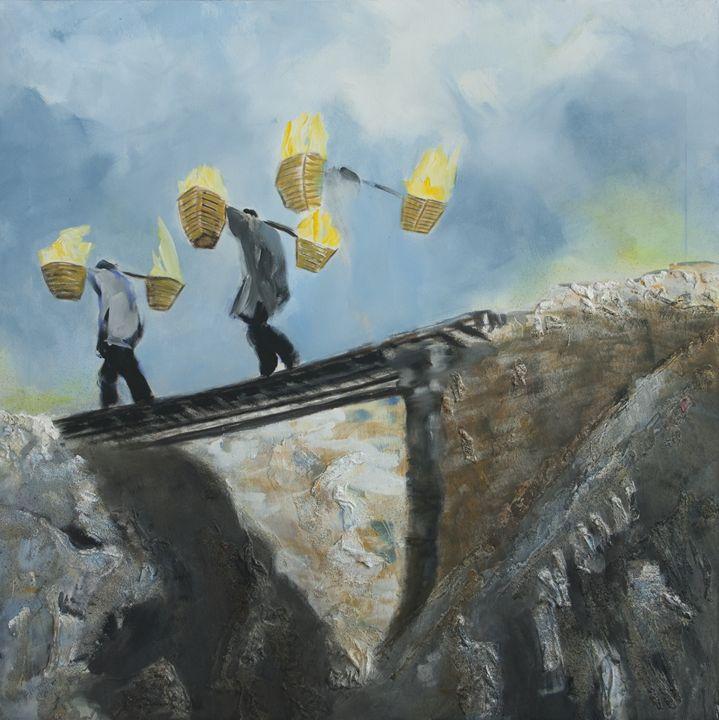 sulfur worker - Schwefelstecher - Kuliwe - Volkmar Köhler