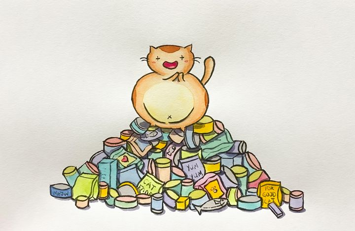 Happiest Cat In The World - Drawbyluck