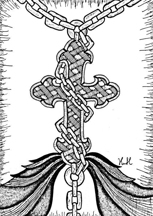 Bound cross - Unicolor