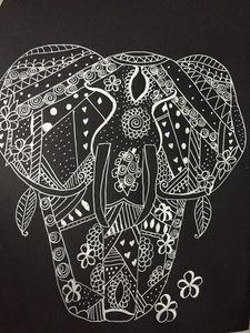 Zentangle Elephant 1