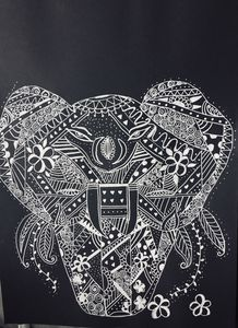 Zentangle elephant 4