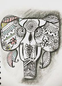 Zentangle elephant 3