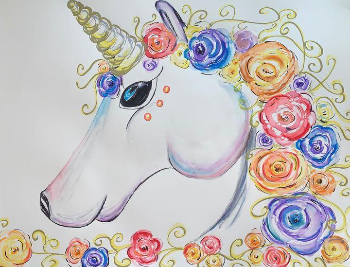 Unicorn with Flower Mane - The Charmed Azalea