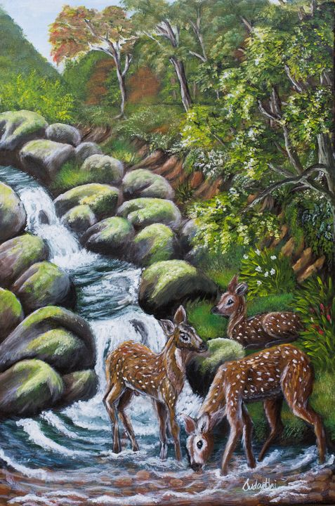 Moment to Refresh - Sudanthi Roshini fine art