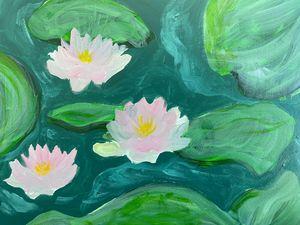 Serene lily pads