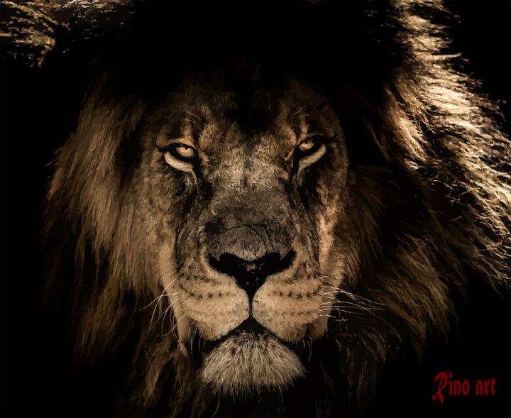 Lion vector art - RinoArt
