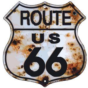 Route 66 vector print art