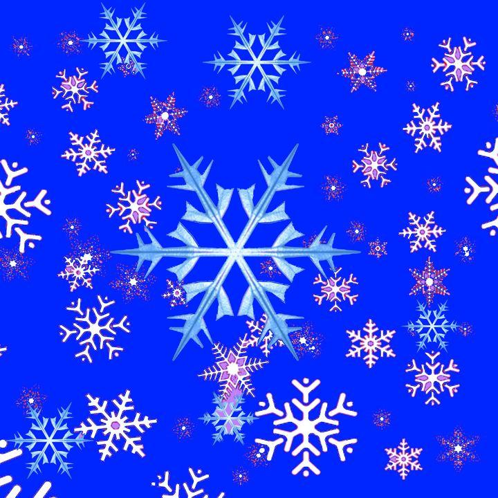 BLUE WINTER SNOWFLAKES - sharlesart