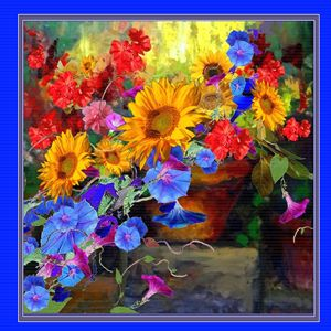 BLUE GARDEN STILL LIFE ART.