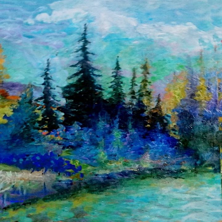 SCENIC BLUE MOUNTAIN FOREST - sharlesart