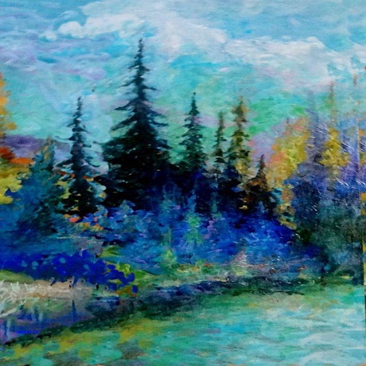 SCENIC BLUE MOUNTAIN FOREST - sharlesart