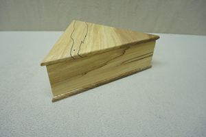 Spalted Maple Triangle Box