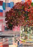 Original mixed media floral art