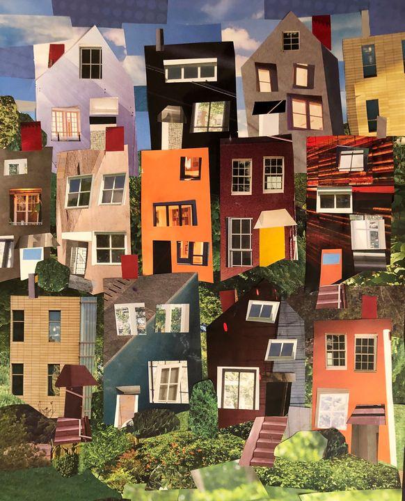 Pittsburgh Houses. No Parking - Lynn Jacques Fine Art