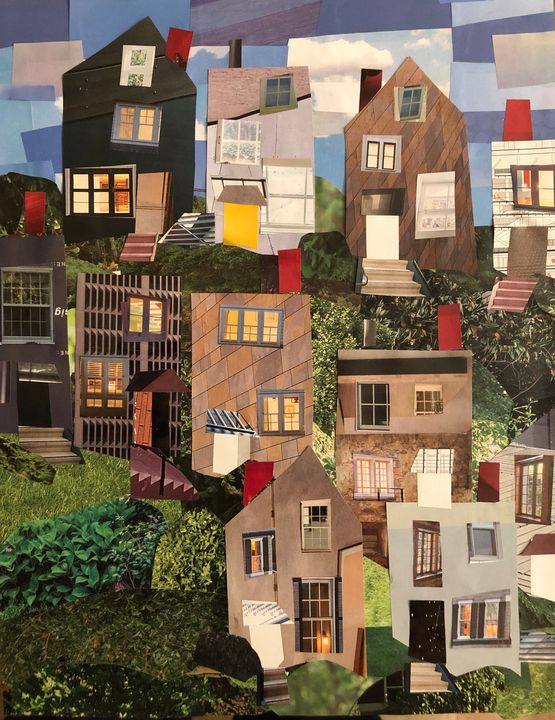 Pittsburgh Houses - Top of the Hill - Lynn Jacques Fine Art