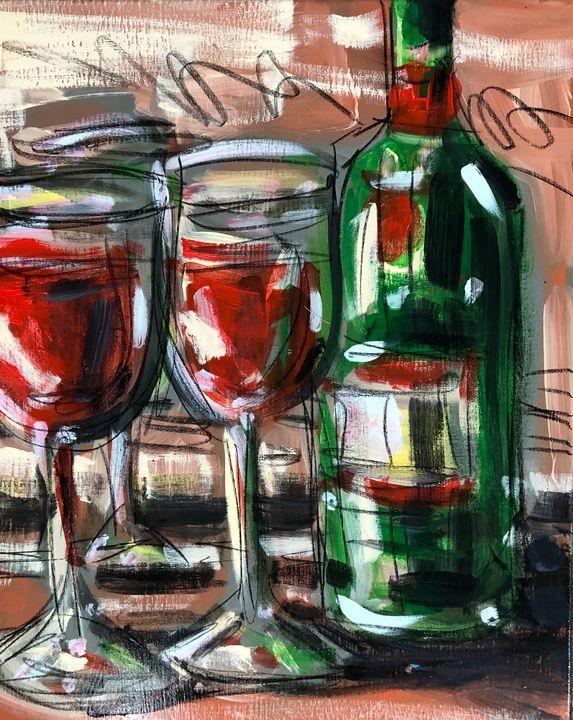 Saturday Night Wine - Lynn Jacques Fine Art