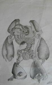 original robot pencil drawing