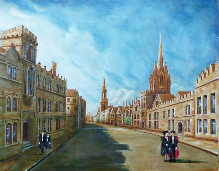 OXFORD HIGH STREET . LATE AFTERNOON - GORDONS STUDIO ART