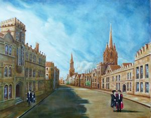 OXFORD HIGH STREET . LATE AFTERNOON - GORDONS STUDIO ART