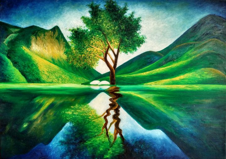 Lake and the mysterious tree - Ina
