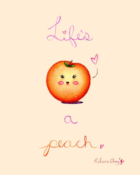Life's a Peach - Painted Dazey