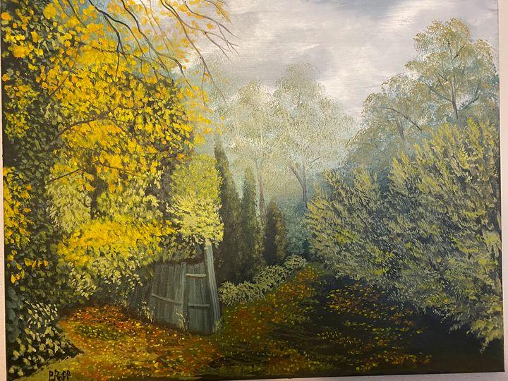 Garden Path - Popp's oil paintings