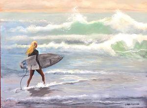 Australian Surfer Girl - Linda Roman Fine Art