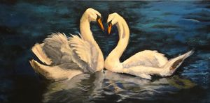 SOLD Swan Couple
