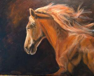 Red Horse Running - Linda Roman Fine Art