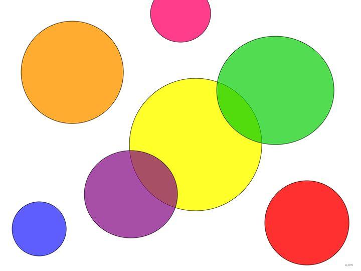 Rainbow Circles - Geraldine Cote