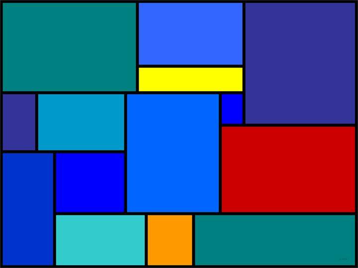 Rectangles in Blue - Geraldine Cote