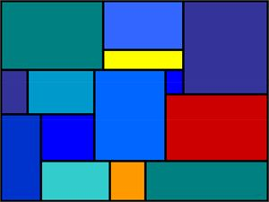 Rectangles in Blue