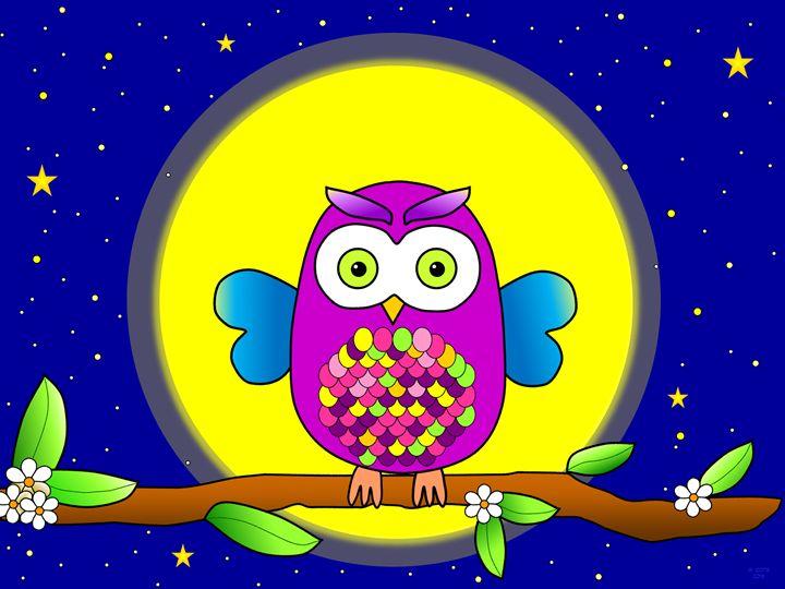Whootie in the Moonlight - Geraldine Cote