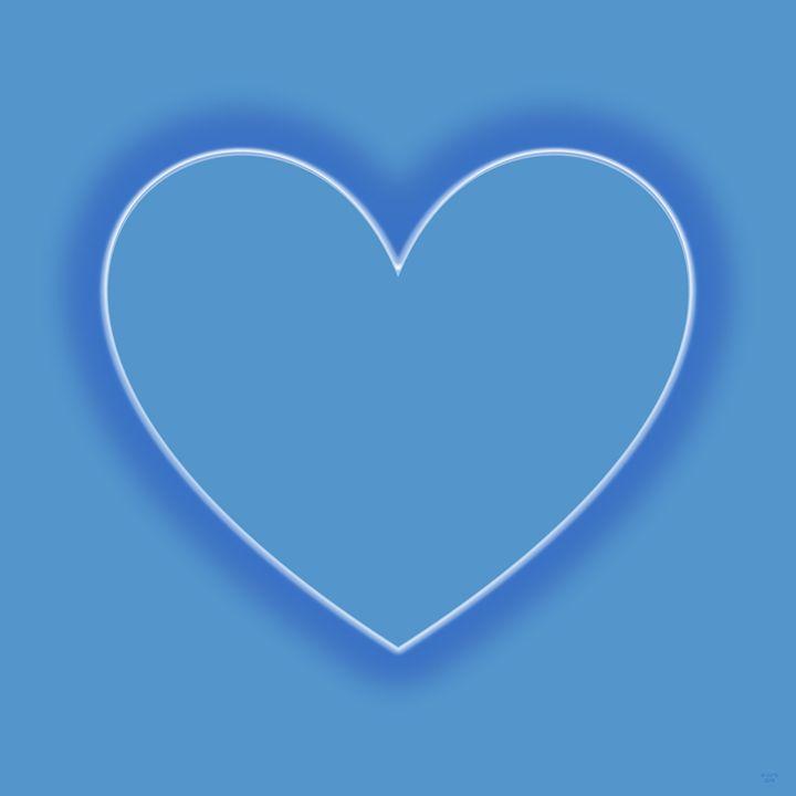 Light Blue Love Heart 1 - Geraldine Cote