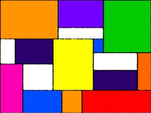 Multi-Coloured Rectangles and Square
